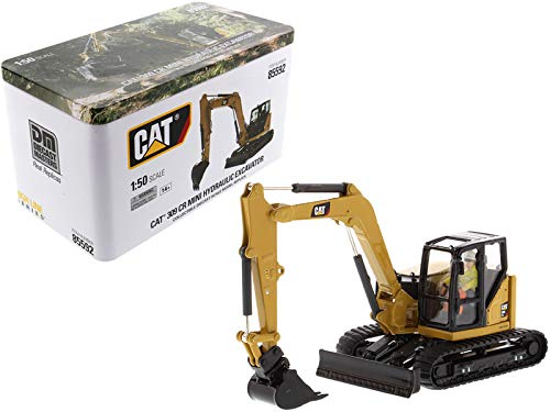 CAT Caterpillar 309 CR Next Generation Mini Hydraulic Excavator with Work Tools and Operator High Line Series 1/50 Diecast Model by Diecast Masters 85592 ()