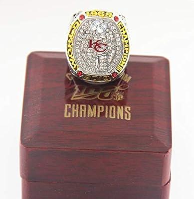 Replica 2019-2020 KC Chiefs SB Ring KC Championship Ring MVP Mahomes with Wooden Box