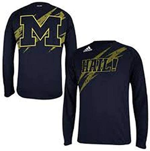Michigan Wolverines Adidas Youth長袖Climaliteパフォーマンスシャツ