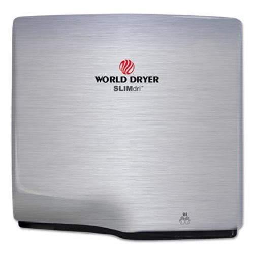 World Dryer L973A SLIMdri Hand Dryer, Stainless Steel, Brush