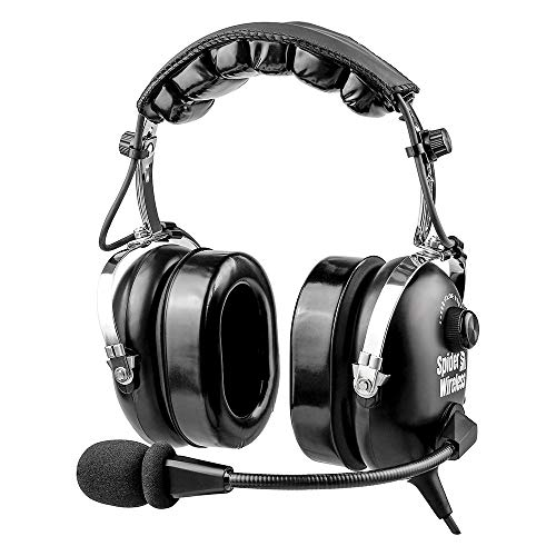 Aviation Headset for Pilots, Aviation Headset with Comfortable Ear Seals, 24db Noise Cancelling, MP3 Support and Carrying Case