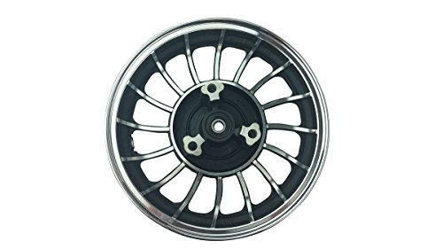 10 Inch Black Front Rim 49 50cc TaoTao Peace New Gy6 Scooters Mopeds MT2.15x10 ()