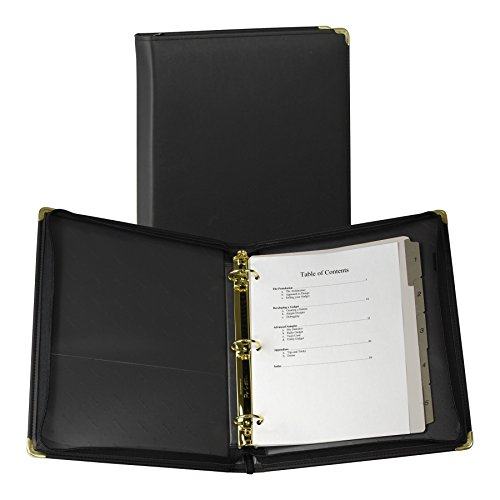 Samsill 15250 Classic Collection Executive Presentation 3 Ring Binder, Zipper Closure, 1.5 Inch Brass Round Ring, - Careers Premium Outlets