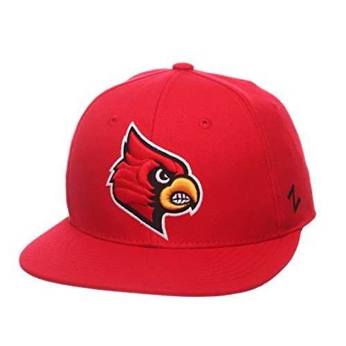 Ncaa Fitted Cap Hat - NCAA Louisville Cardinals Men's M15 Fitted Hat, 7, Red