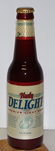 Hudy Delight beer Tap Handle marker knob Beer Bottle acrylic molded label metal bottle cap top actual bottle size. hudephol schoenling brewing cincinnati OH now (Ale Acrylic Tap)
