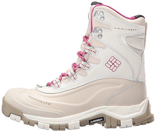 Columbia Women's Bugaboot Plus Omni-Heat Michelin Snow Boot, Sea Salt, Deep Blush, 9 B US by Columbia (Image #5)