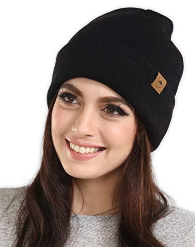 8b2688a9b Tough Headwear Cuff Beanie Watch Cap - Warm, Stretchy & Soft Knit ...