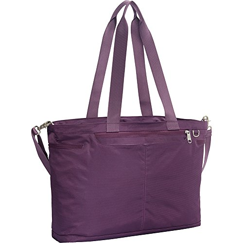 eBags Savvy Laptop Tote 2.0 with RFID Security (Aubergine Apparel)