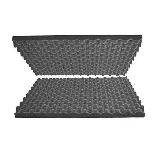 "2""x24""x36"" Egg Crate Polyurethane Charcoal Acoustic Foam & Packing Foam Set"