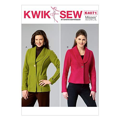 KWIK-SEW PATTERNS K4071 Misses' Jackets, All Sizes