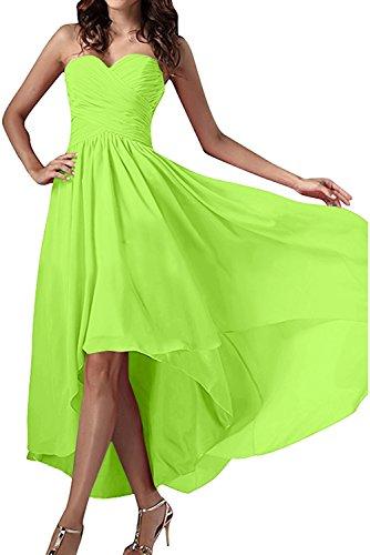 Ballkleid Chiffon Festkleid Herzform Partykleid Damen Jaegergruen Abendkleider Ivydressing Einfach YSF1vxq