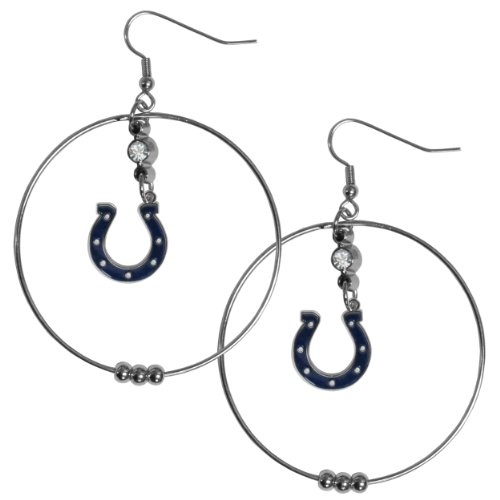 (NFL Indianapolis Colts Hoop Earrings, 2-Inch)