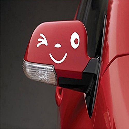 Yonger 2 X Cute Smile Face 3D Decal Sticker for Auto Car Side Mirror L+R Rearview White by Yonger (Image #9)