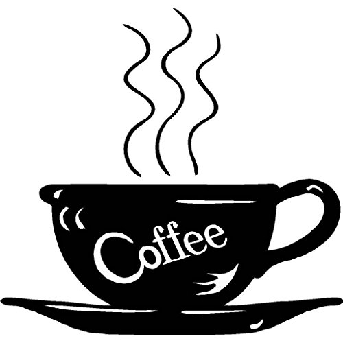 Top Selling Decals - Prices Reduced : Coffee for that Kitchen Wall Cup Mug Picture Art With Writing Peel & Sticker Home Decor - 22 Colors Available (Dark Coffee Vinyl)