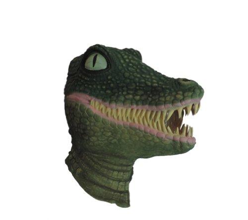 [Adult Crocodile Alligator Reptile Latex Costume Mask] (Youre Next Costume)