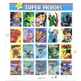 dc-comics-super-heroes-full-sheet-of-20-x-39-cent-postage-stamps-usa-2006-scott-4084