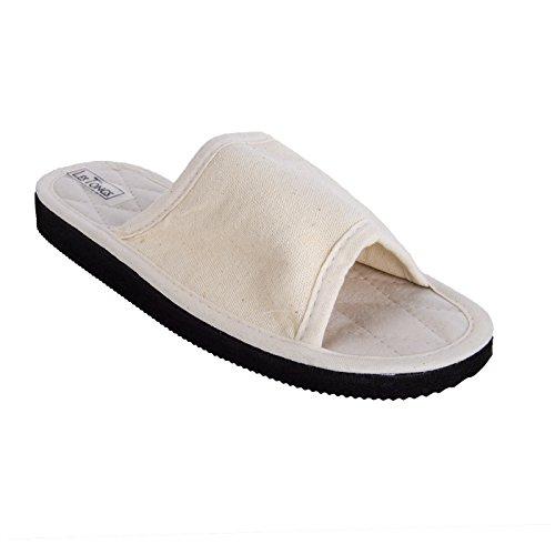 Sonnenscheinschuhe® - Zapatillas de estar por casa para mujer beige naturaleza