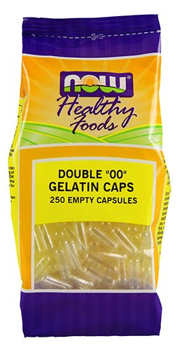 NOW '00' Gel Capsules, 250 Empty Capsules