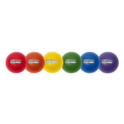 Champion Sports 3.5 Inch Rhino Skin High Bounce Super 90 Dodgeball Set