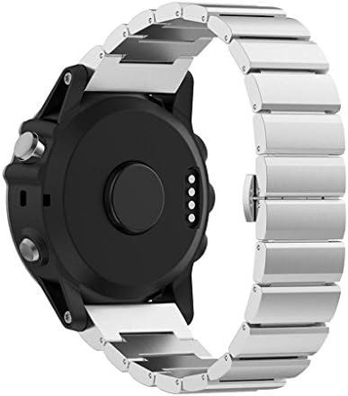 StrapsCo メタルステンレススチール リプレイスメント 時計バンドストラップ。 Garmin Fenix ガーミン フェニックス 用。 工具付き。
