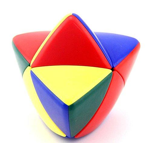 CuberSpeed 2x2 Mastermorphix Stickerless Magic Cube Pyramorphix Stickerless Speed Cube Puzzle Shengshou