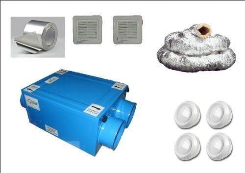 Ventilador Extractor Recuperador de Calor de Condensación HRU100 ...