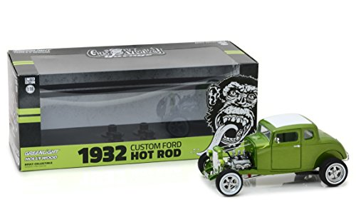 1:18 Gas Monkey Garage (2012-Current TV Series) - 1932 Custom Ford Hot Rod - Metallic Green (12974)