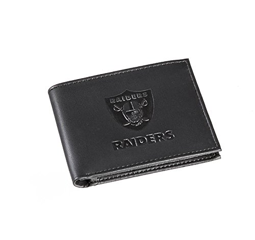 Team Sports America NFL Oakland Raiders Bi-Fold Wallet, Black