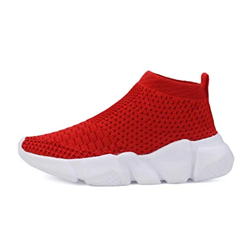 YAVY Kids Sock Sneakers for Boys and Girls Tennis Sock Shoes Lightweight Running Shoes Breathable Casual Sports Shoes