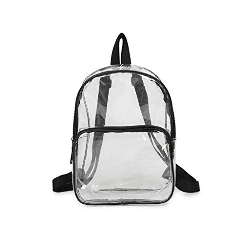 (Pengy Woman Shoulder Bag Transparent Versatile Bag Sequins Fashion Backpack Multi-purpose Student Bag)
