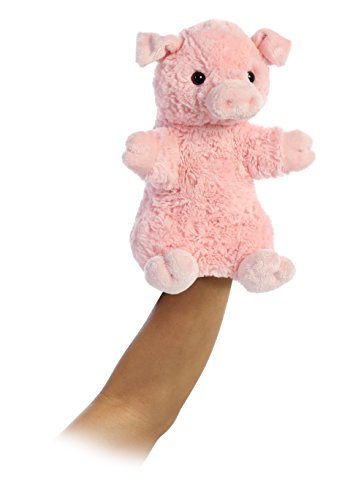 Aurora World Pinky The Pig Hand Puppet Plush, Pink ()