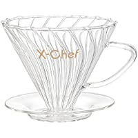 X-Chef Pour Over Glass Coffee Dripper