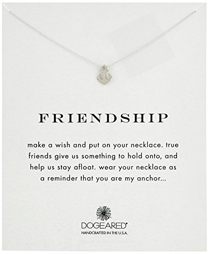 Dogeared Women's Friendship Anchor Reminder Necklace Sterling Silver One Size