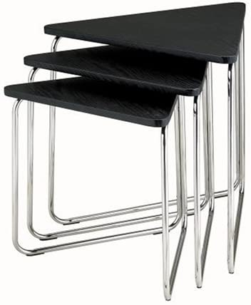 Adesso Wedge Nesting Tables, Black