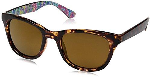 Lilly Pulitzer Women's Maddie Polarized Square Sunglasses, Dark Tortoise/Playa Hermosa, 52 - Print Custom Sunglasses