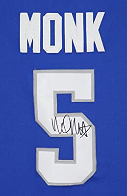 Mailk Monk Kentucky Wildcats Autographed Blue #5 Jersey