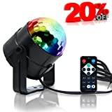 Disco Lights,Disco Ball Lamps in Sound Activated,Party Lights with IR Controller,3W RGB 7 Colors for KTV Lighting,X'mas Party,Wedding Show,Club Pub Disco DJ Lighting - MultiColor