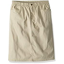 Women's Stretch Denim L-Pocket Skirt