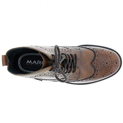 Marc Shoes Herren Joe Leder Schnürboot Braun