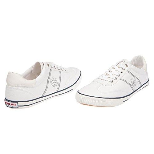 Zapatillas de Hombre POLO Hombre con Cierre de Cordones - mod. MARCS4194S7-C1 blanco