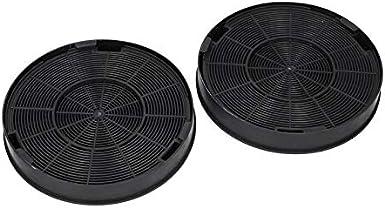 2 x filtro de carbón activo Filtro de carbón para Bosch 00748732 AEG Electrolux 9029793578 Tipo Faber EFF62 para campana extractora