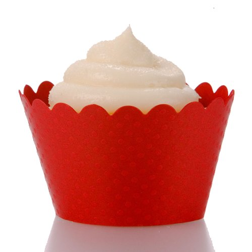 Dress My Cupcake Standard Red Cupcake Wrappers, Set of 50 (Red Standard Cupcake Wrappers)