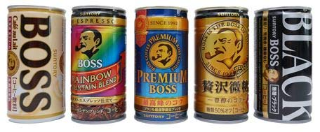 Japanese Popular Canned Coffee Random Variety Assortment 6 Cans Set / BOSS FIRE GEORGIA WONDA / Black,Cafe Au Lait, Trace-Sugar etc