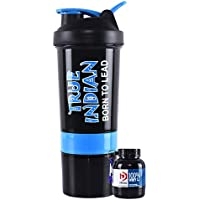 TRUE INDIAN Gym Shaker with WHEY Protein Funnel(Combo)