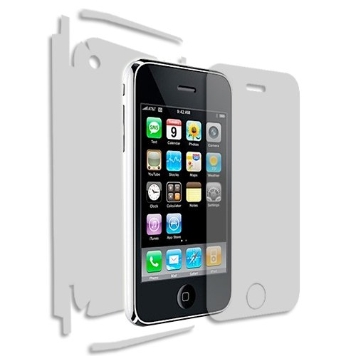 iPhone 3GS Screen Protector + Full Body (Apple iPhone 3G), Skinomi TechSkin Full Coverage Skin + Screen Protector for iPhone 3GS Front & Back Clear HD Film