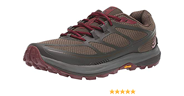 6.0 Topo Athletic Terraventure 2 Trail Running Shoe Womens Olive//Raisin
