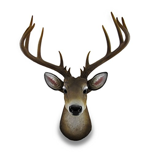 resin wall sculptures 12 point buck deer head bust wall