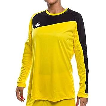 Soloporteros Camiseta Mujer Sphere Manga Larga Amarilla Talla XS