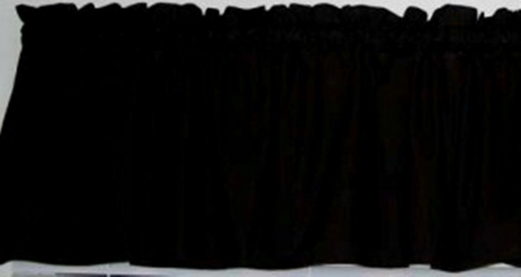 Valance Solid Black Kona Cotton Window Treatment Curtain 72 Inches Wide X 14 Inches Long
