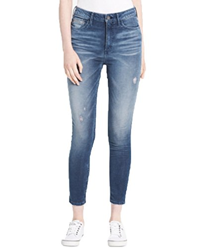 (Calvin Klein Jeans Women's High Rise Corduroy Ankle Skinny Pant, Blue Lagoon, 29)